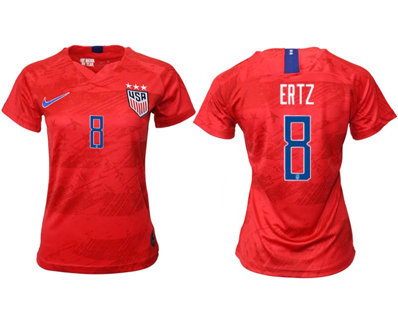 Women 2019-2020 Season National Team America away aaa 8 red Soccer Jerseys