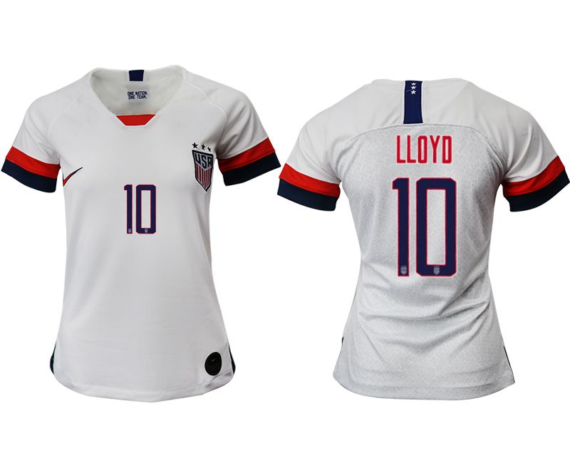 Women 2019-2020 Season National Team America home aaa 10 white Soccer Jerseys