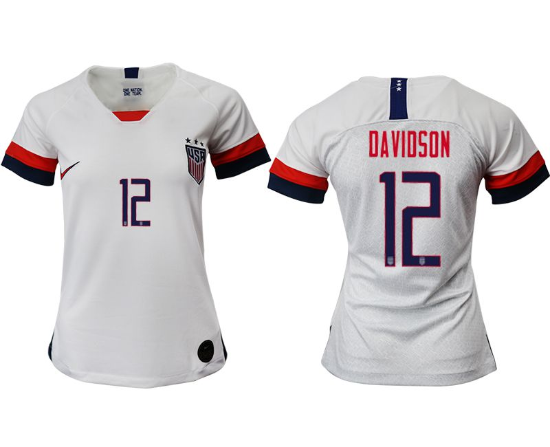Women 2019-2020 Season National Team America home aaa 12 white Soccer Jerseys
