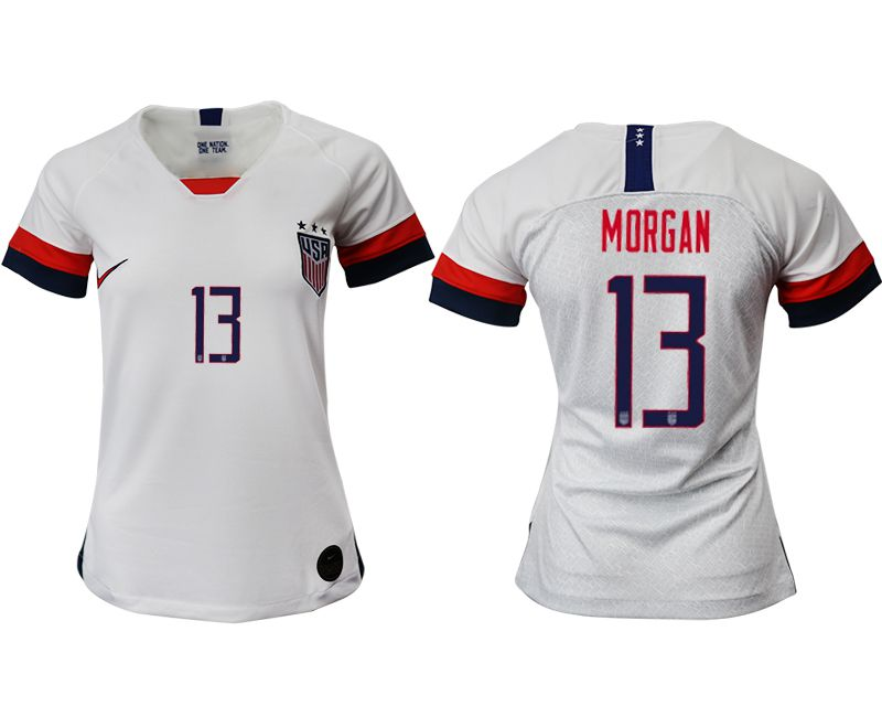 Women 2019-2020 Season National Team America home aaa 13 white Soccer Jerseys