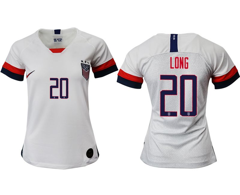 Women 2019-2020 Season National Team America home aaa 20 white Soccer Jerseys