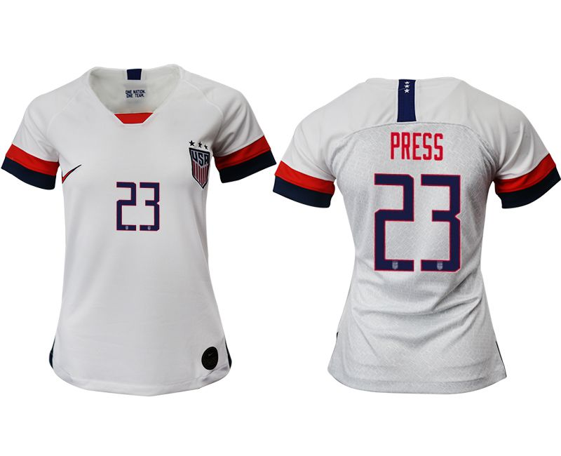 Women 2019-2020 Season National Team America home aaa 23 white Soccer Jerseys