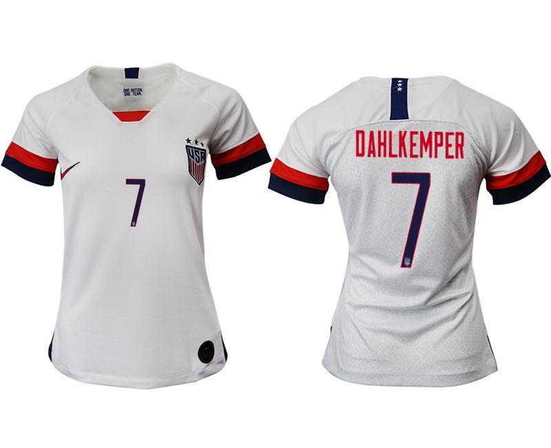 Women 2019-2020 Season National Team America home aaa 7 white Soccer Jerseys