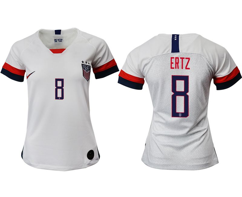 Women 2019-2020 Season National Team America home aaa 8 white Soccer Jerseys