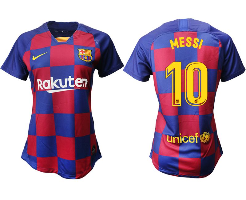 Women 2019-2020 club Barcelona home aaa version 10 blue Soccer Jerseys