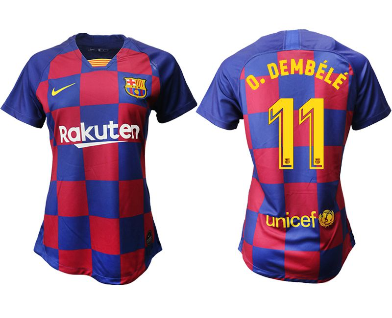 Women 2019-2020 club Barcelona home aaa version 11 blue Soccer Jerseys