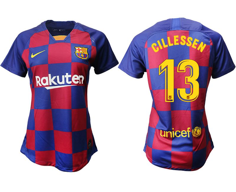 Women 2019-2020 club Barcelona home aaa version 13 blue Soccer Jerseys