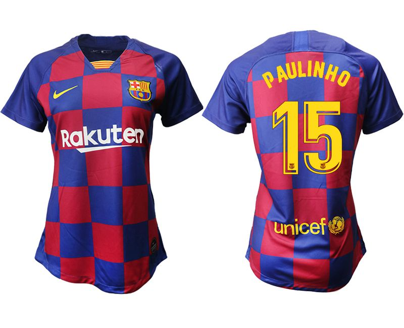 Women 2019-2020 club Barcelona home aaa version 15 blue Soccer Jerseys