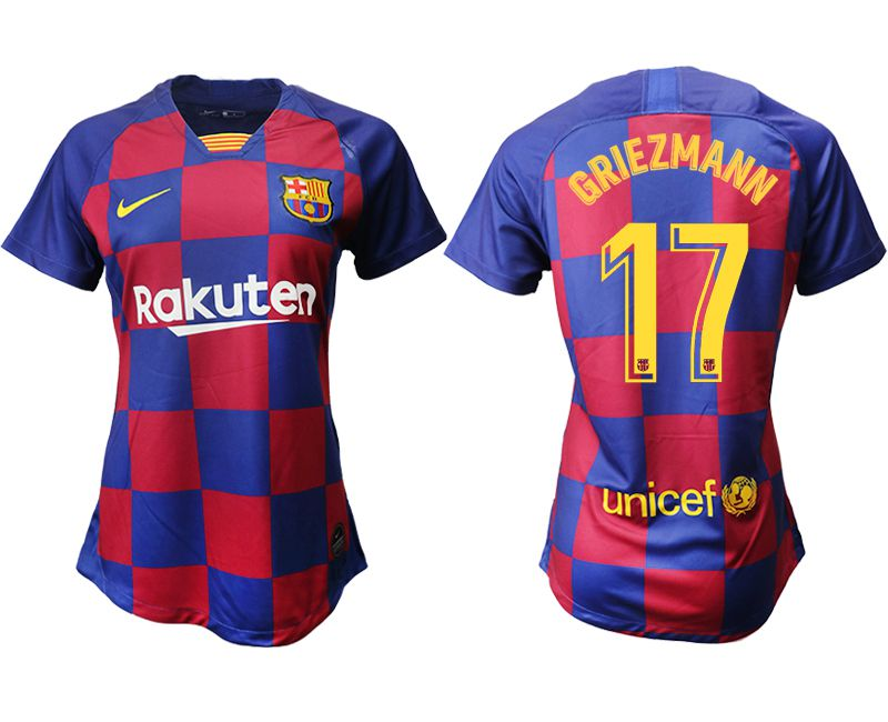 Women 2019-2020 club Barcelona home aaa version 17 blue Soccer Jerseys