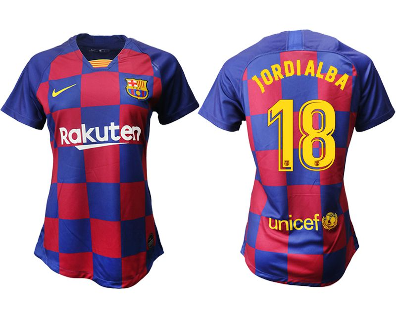 Women 2019-2020 club Barcelona home aaa version 18 blue Soccer Jerseys