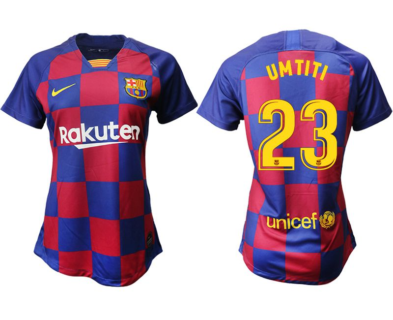 Women 2019-2020 club Barcelona home aaa version 23 blue Soccer Jerseys