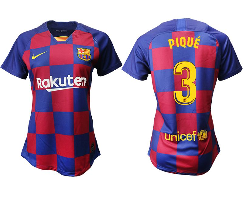 Women 2019-2020 club Barcelona home aaa version 3 blue Soccer Jerseys
