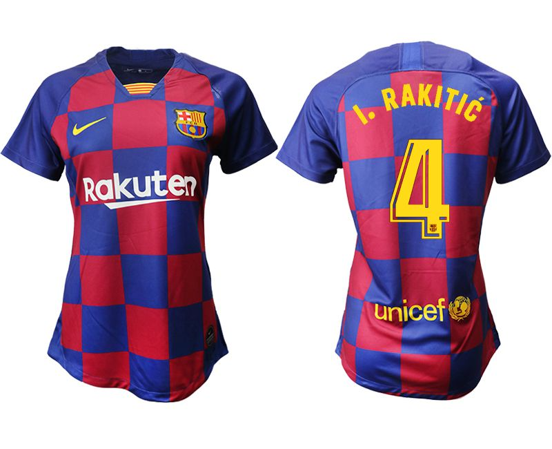 Women 2019-2020 club Barcelona home aaa version 4 blue Soccer Jerseys