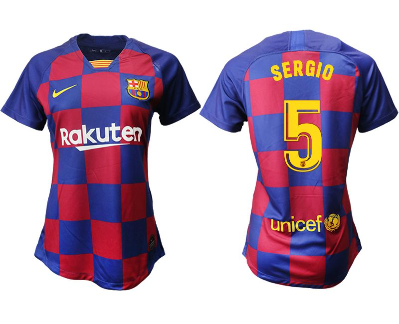 Women 2019-2020 club Barcelona home aaa version 5 blue Soccer Jerseys