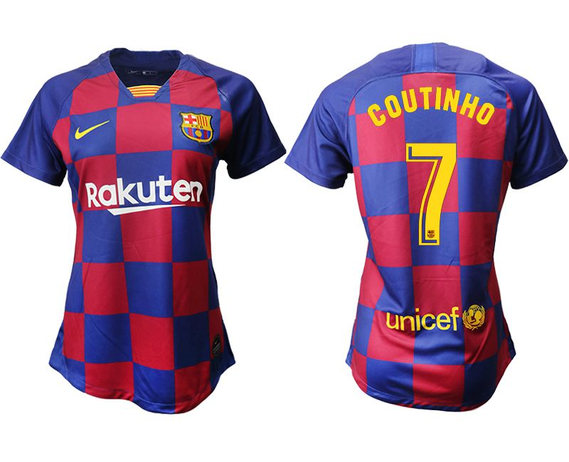 Women 2019-2020 club Barcelona home aaa version 7 blue Soccer Jerseys