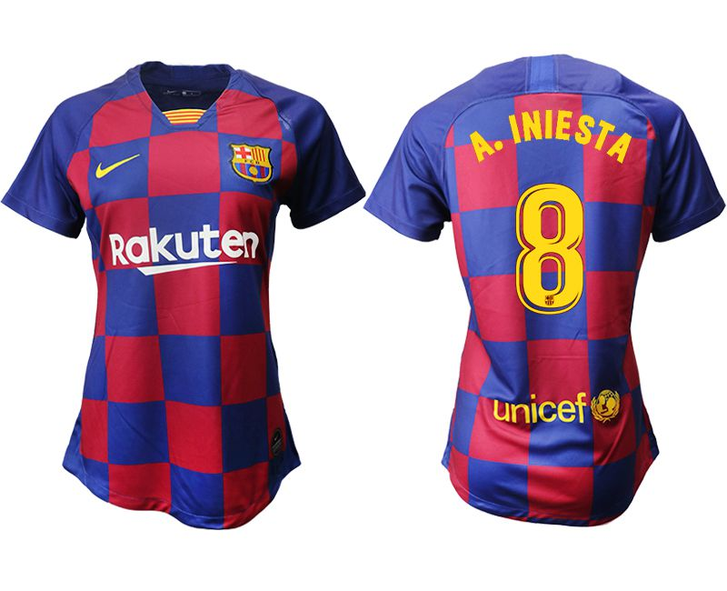 Women 2019-2020 club Barcelona home aaa version 8 blue Soccer Jerseys