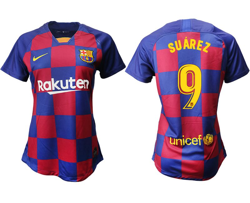Women 2019-2020 club Barcelona home aaa version 9 blue Soccer Jerseys