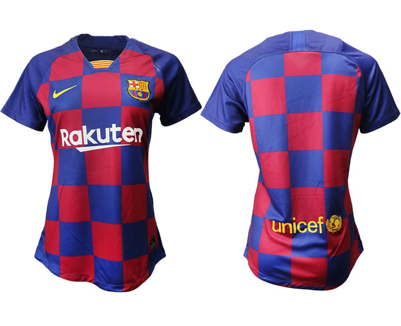 Women 2019-2020 club Barcelona home aaa version blue Soccer Jerseys