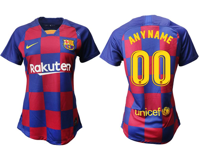 Women 2019-2020 club Barcelona home aaa version customized blue Soccer Jerseys