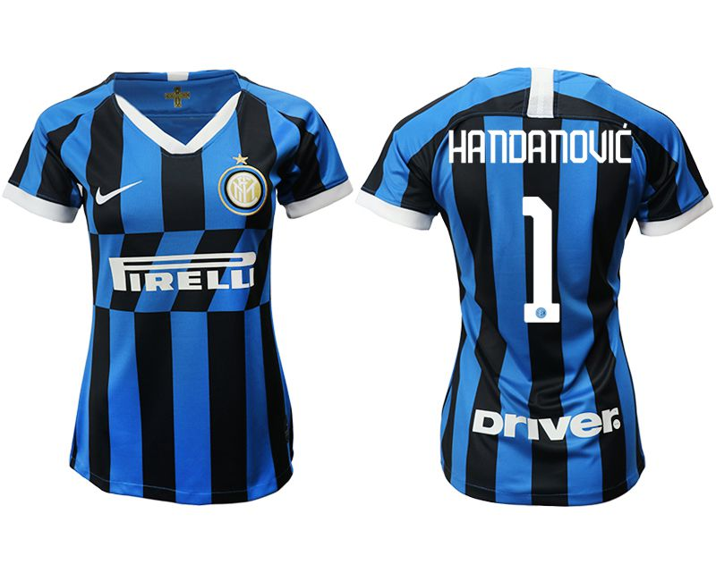Women 2019-2020 club Inter Milan home aaa version 1 blue Soccer Jerseys