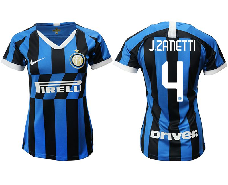 Women 2019-2020 club Inter Milan home aaa version 4 blue Soccer Jerseys
