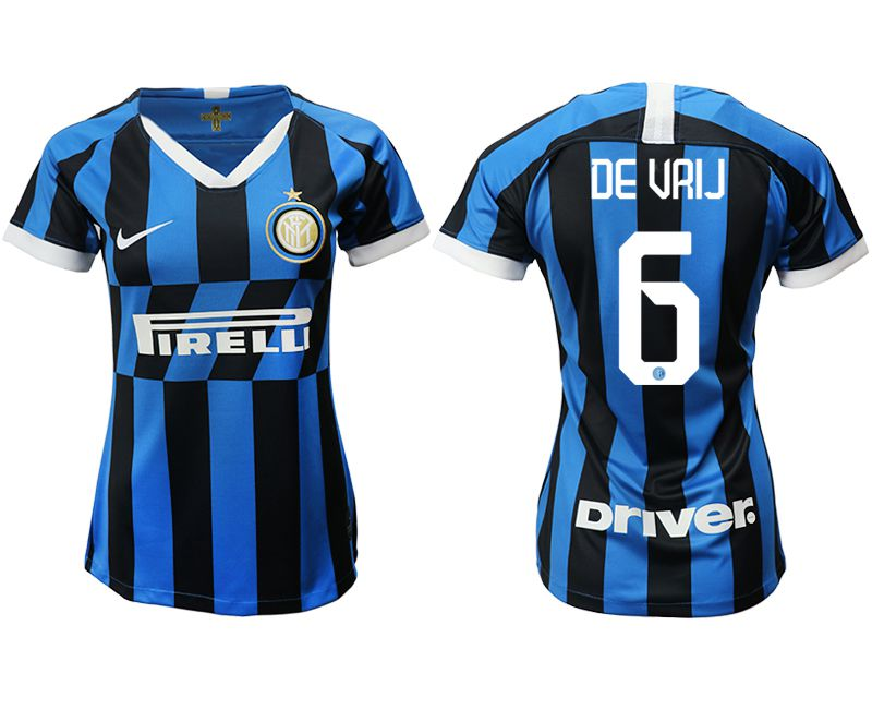 Women 2019-2020 club Inter Milan home aaa version 6 blue Soccer Jerseys
