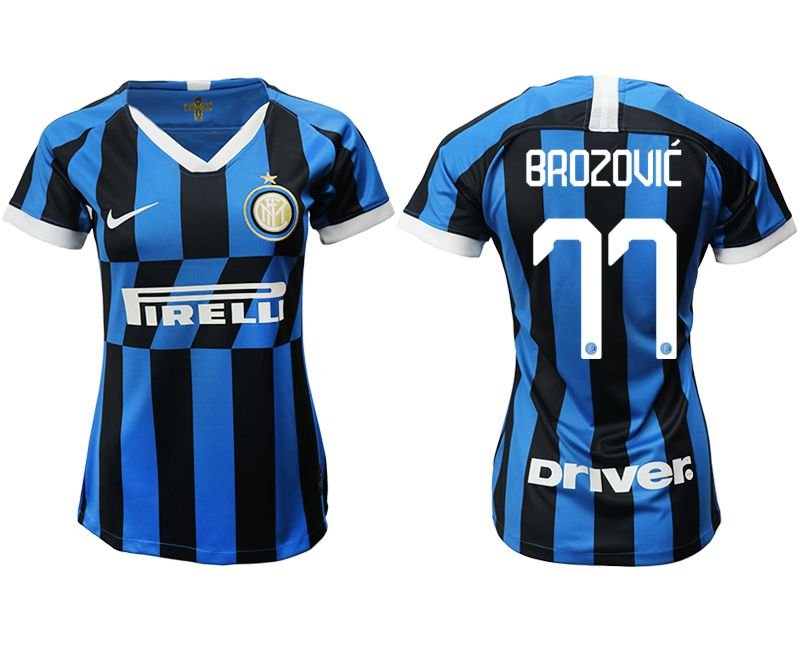 Women 2019-2020 club Inter Milan home aaa version 77 blue Soccer Jerseys