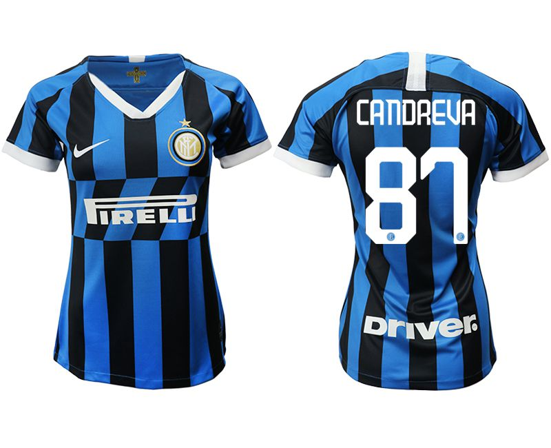 Women 2019-2020 club Inter Milan home aaa version 87 blue Soccer Jerseys