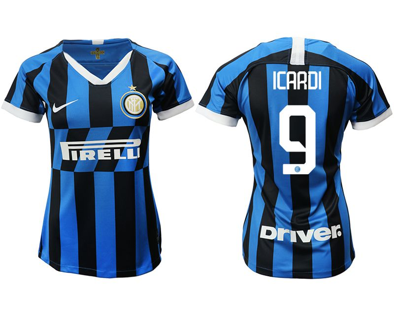 Women 2019-2020 club Inter Milan home aaa version 9 blue Soccer Jerseys