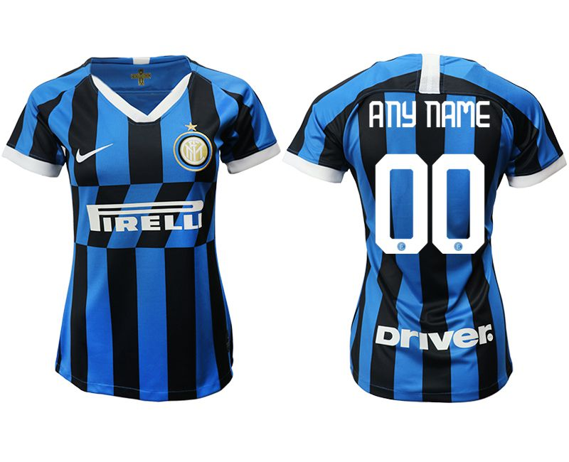 Women 2019-2020 club Inter Milan home aaa version customized blue Soccer Jerseys