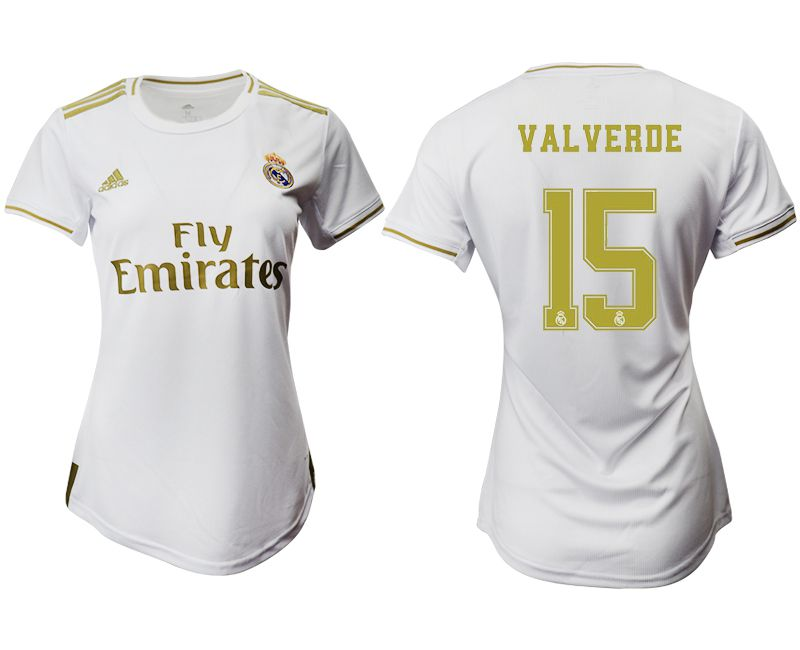 Women 2019-2020 club Real Madrid home aaa version 15 white Soccer Jerseys