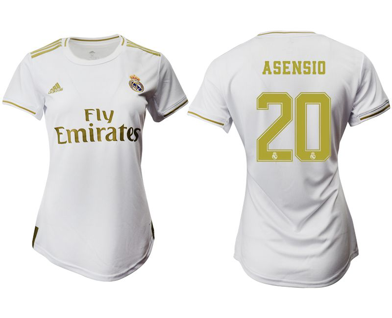 Women 2019-2020 club Real Madrid home aaa version 20 white Soccer Jerseys