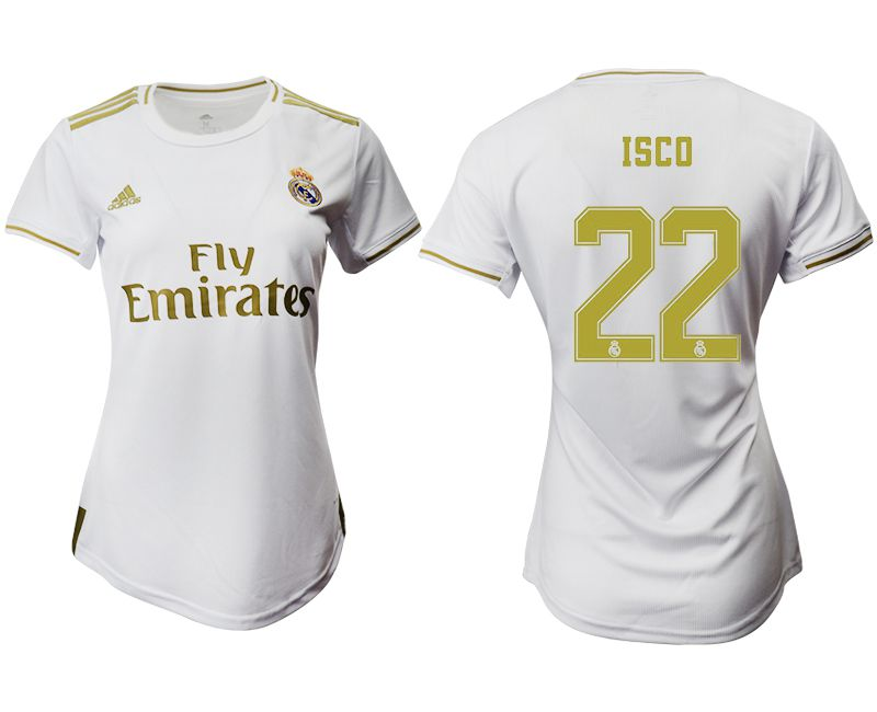 Women 2019-2020 club Real Madrid home aaa version 22 white Soccer Jerseys