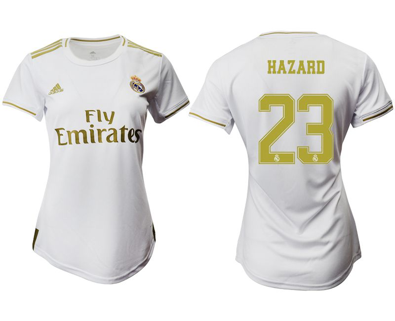 Women 2019-2020 club Real Madrid home aaa version 23 white Soccer Jerseys