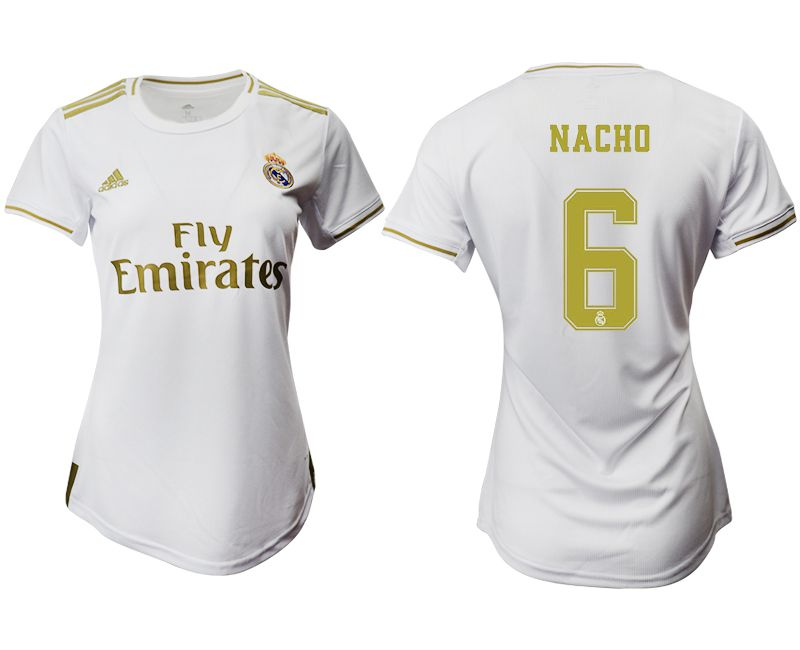 Women 2019-2020 club Real Madrid home aaa version 6 white Soccer Jerseys