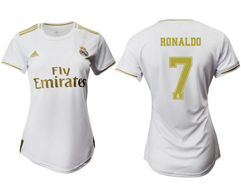 Women 2019-2020 club Real Madrid home aaa version 7 white Soccer Jerseys1