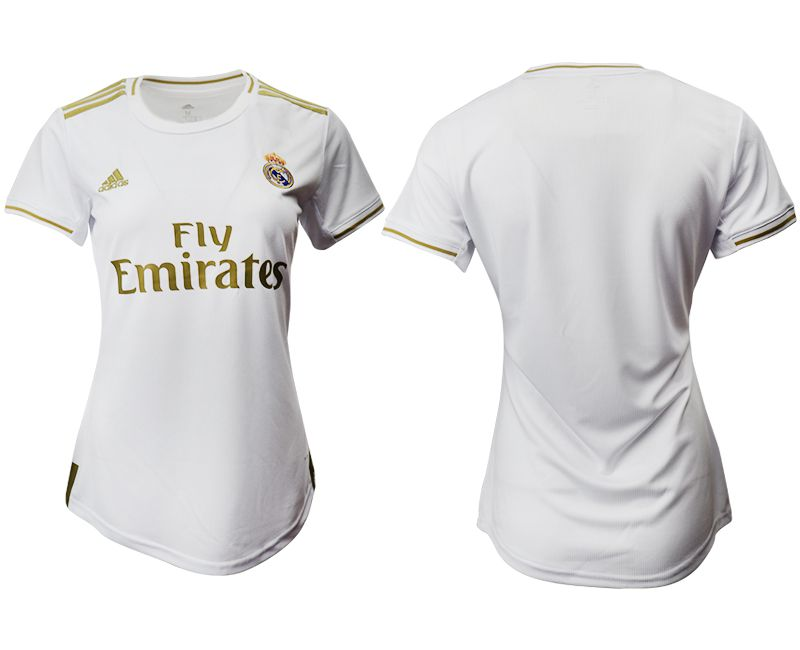 Women 2019-2020 club Real Madrid home aaa version white Soccer Jerseysv