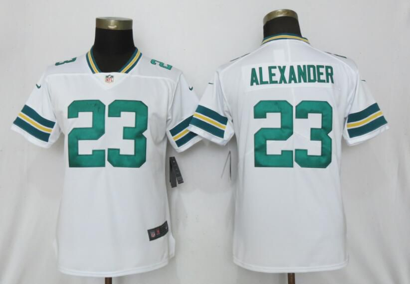 Women Nike Green Bay Packers 23 AlexanderWhite 2017 Vapor Untouchable Elite jerseys