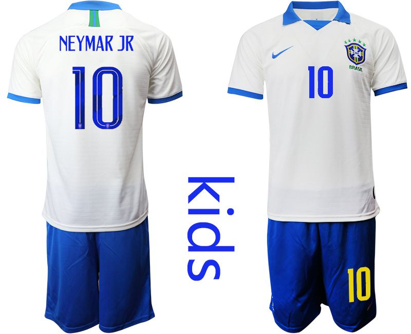 Youth 2019-2020 Season National Team Brazil white special edition 10 Soccer Jerseys