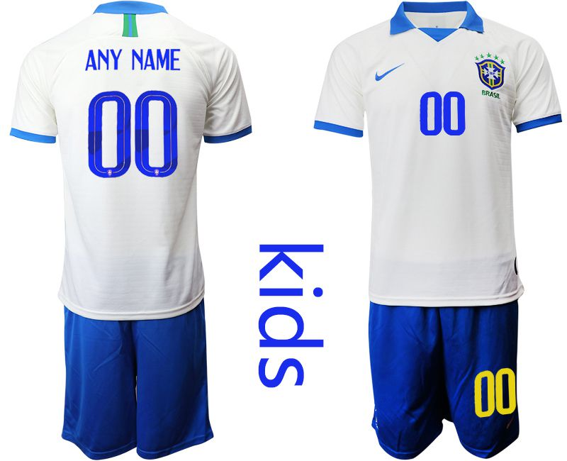 Youth 2019-2020 Season National Team Brazil white special edition customized Soccer Jerseys
