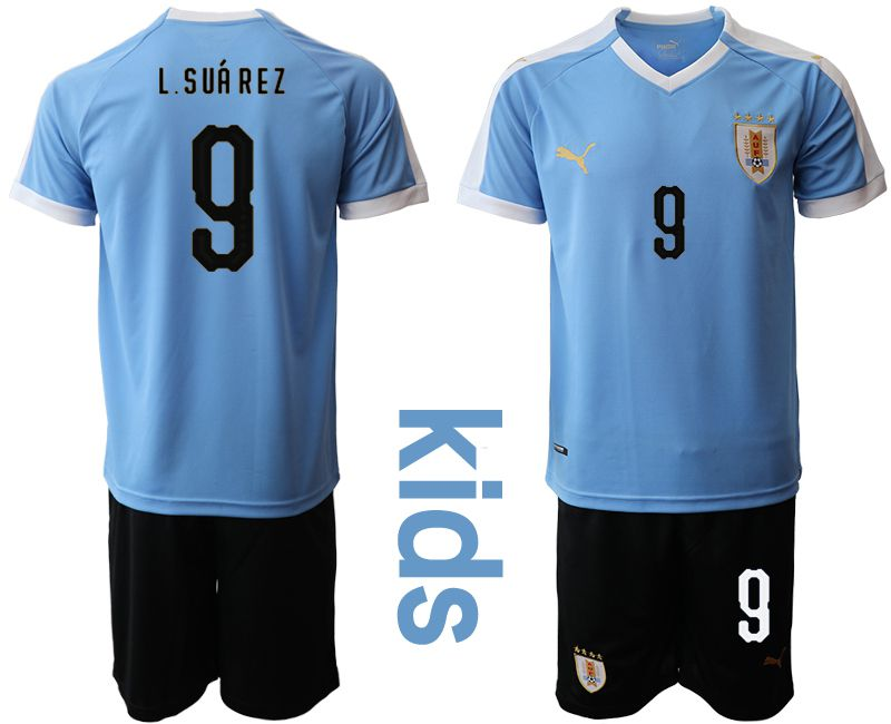 Youth 2019-2020 Season National Team Uruguay home 9 blue Soccer Jerseys