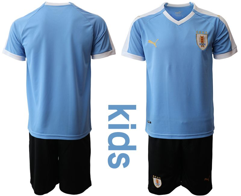 Youth 2019-2020 Season National Team Uruguay home blue Soccer Jerseys