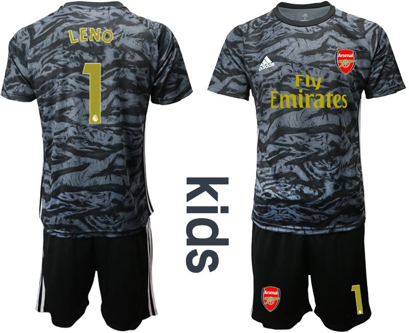 Youth 2019-2020 club Arsenal black goalkeeper 1 Soccer Jerseys
