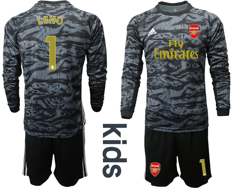 Youth 2019-2020 club Arsenal black long sleeve goalkeeper 1 Soccer Jerseys