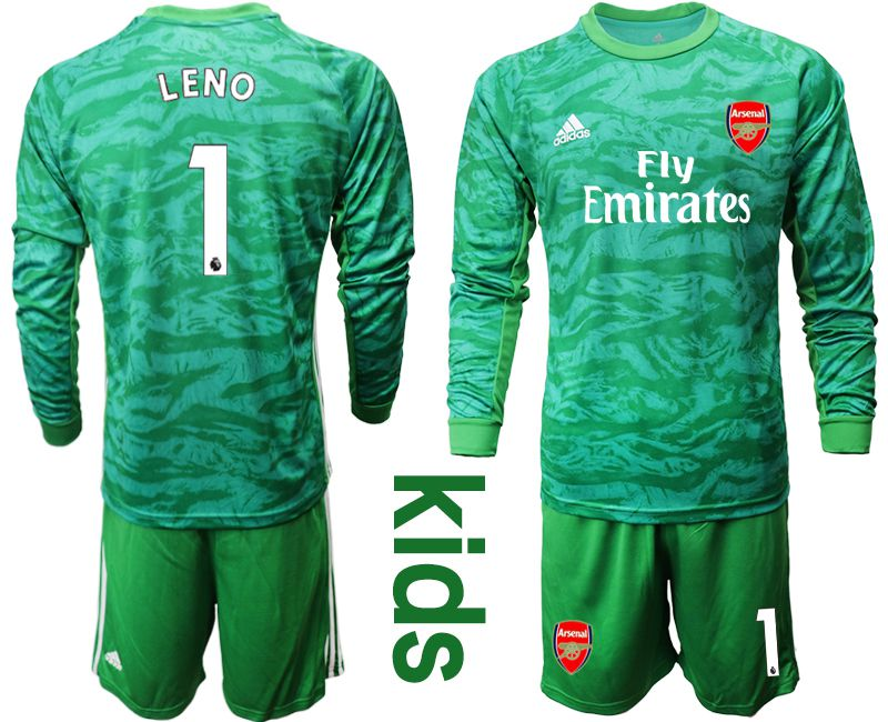 Youth 2019-2020 club Arsenal green goalkeeper long sleeve 1 Soccer Jerseys