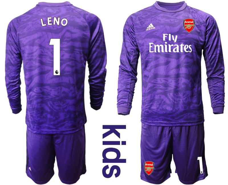 Youth 2019-2020 club Arsenal purple long sleeved Goalkeeper 1 Soccer Jerseys