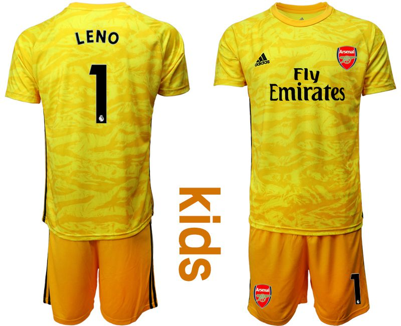 Youth 2019-2020 club Arsenal yellow goalkeeper 1 Soccer Jerseys