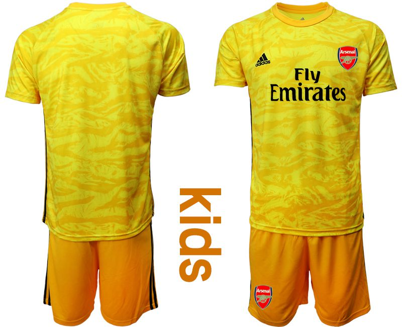 Youth 2019-2020 club Arsenal yellow goalkeeper Soccer Jerseys