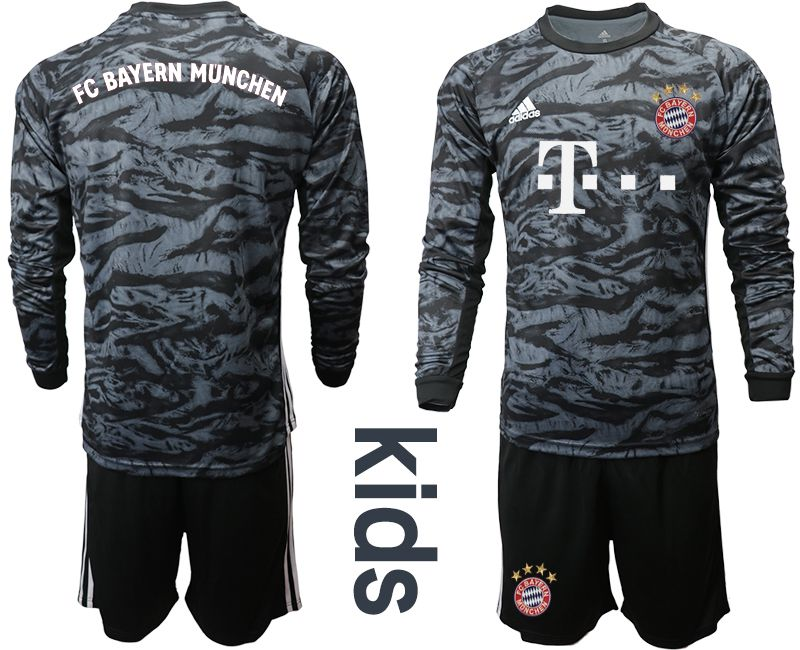 Youth 2019-2020 club Bayern Munich black long sleeve goalkeeper Soccer Jerseys