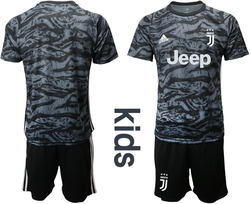 Youth 2019-2020 club Juventus black goalkeeper Soccer Jerseys